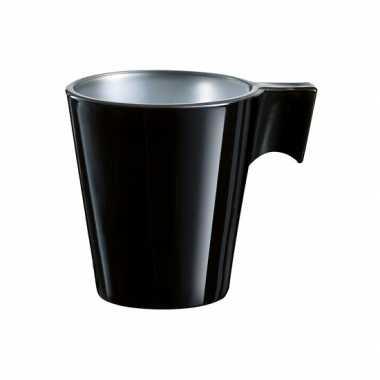 Feest espresso kopje zwart