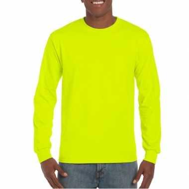 Feest fel gele t-shirts lange mouwen top kwaliteit