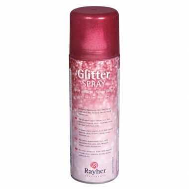 Feest fijne glitterspray rood
