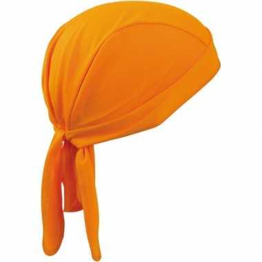 Feest fitness bandana oranje