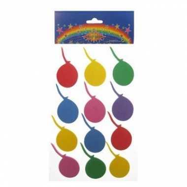 Feest foam stickers gekleurd ballon 24