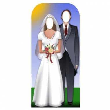 Feest fotoborden bruidspaar