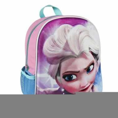 44992ee3df9 Frozen elsa 3d rugtasje roze voor kinderen | Feestwinkel-online.nl