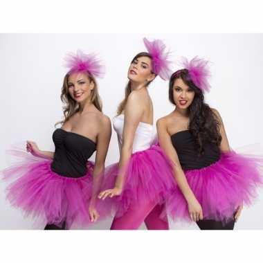 Feest fuchsia roze dames tutu