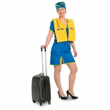 Feest funny stewardess kostuum voor dames