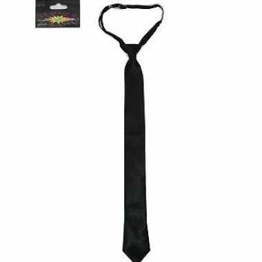 Feest gangsterkleding stropdas zwart