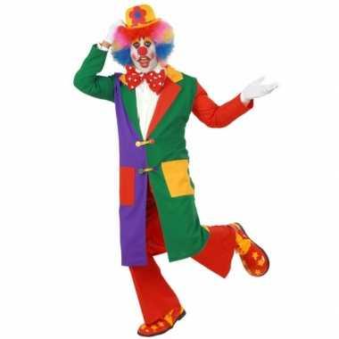 Feest gekleurde clown jas