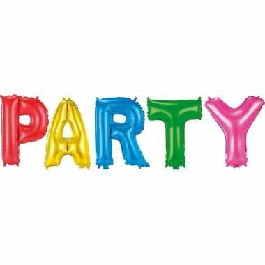 Feest gekleurde folie ballonnen party set