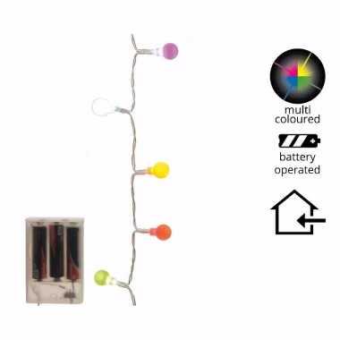 Feest gekleurde led lampjes 20 lampjes 1 m