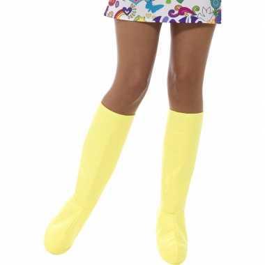 Feest gele laarshoezen voor dames