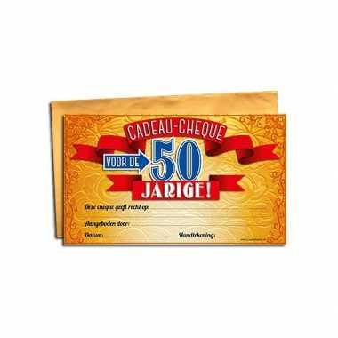 Feest gift cheque voor de 50 jarige 10158098