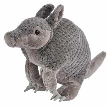 Feest gordeldieren speelgoed artikelen gordeldier knuffelbeest grijs 35 cm