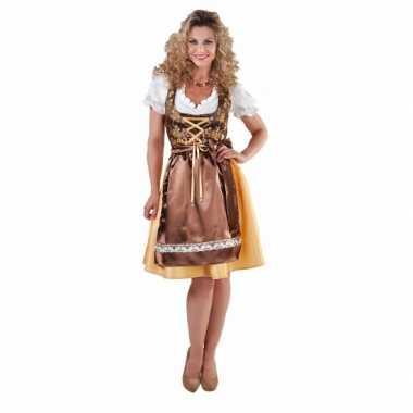 da72fa06c10 Gouden dirndl jurkje met lang schort