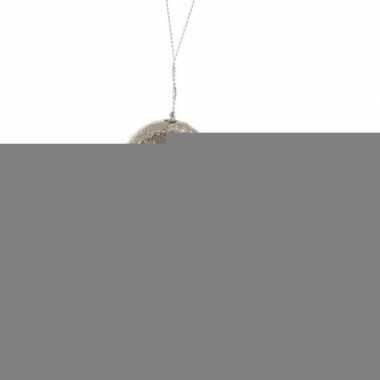 Gouden glitter zwaan kerstversiering hangdecoratie 10 cm