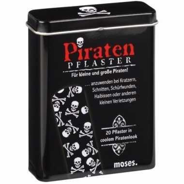 Feest grappige piraat pleisters 20 stuks