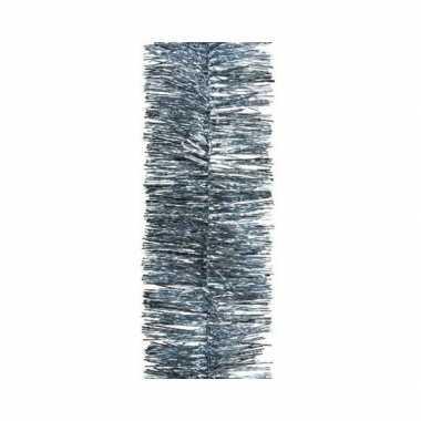 Grijsblauwe kerstslinger 7 x 270 cm kerstboom versieringen
