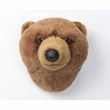 Feest grizzly berenhoofd voor aan de muur