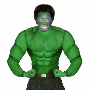 Feest groen spierballen shirt voor heren