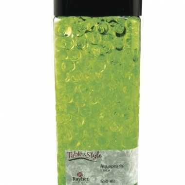 Feest groene aqua pearls in doosje