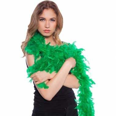 Groene boas met veren 180 cm
