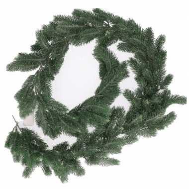 Feest groene kerst slinger 180 cm