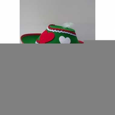 Groene oktoberfest hoed voor dames