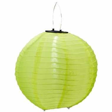 Groene solar party lampionnen 30 cm