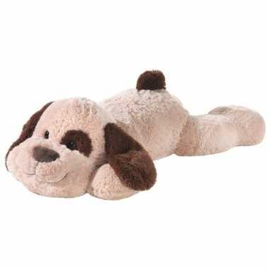 Feest grote bruine pluche hond knuffel 120 cm