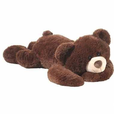 242c64dc28f6e3 Grote liggende beer knuffel bruin 120 cm | Feestwinkel-online.nl