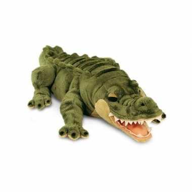 Feest grote pluche knuffel alligator krokodil van 46 cm