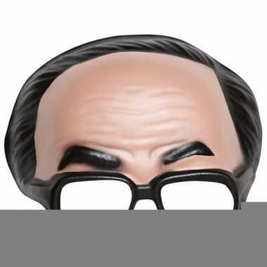 Feest half heren masker met bril