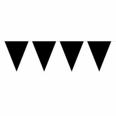 Halloween - 1x mini vlaggenlijn / slinger zwart 300 cm