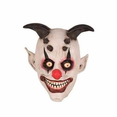 Halloween - halloween clown met hoorns masker van latex