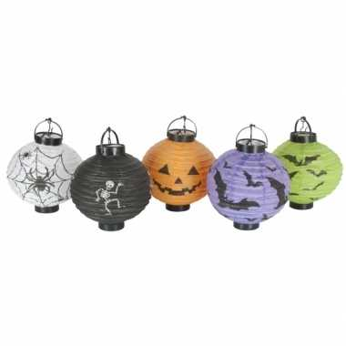 Feest halloween halloween decoratie lampionnen setje 10 stuks