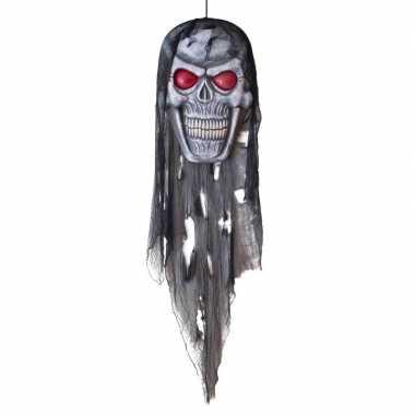 Halloween - halloween versiering doodshoofd pop met licht 75 cm