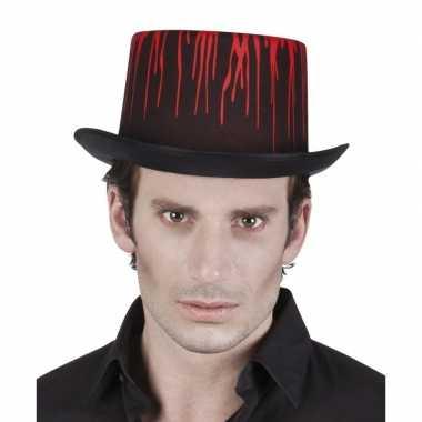 Halloween - hoge halloween hoed met druipend bloed voor volwassenen