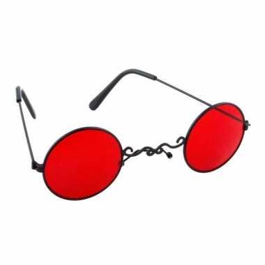 Halloween - rode dracula/vampier party bril voor volwassenen
