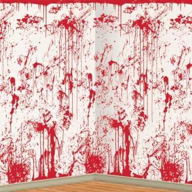 Feest halloween scenesetter bloederige muur