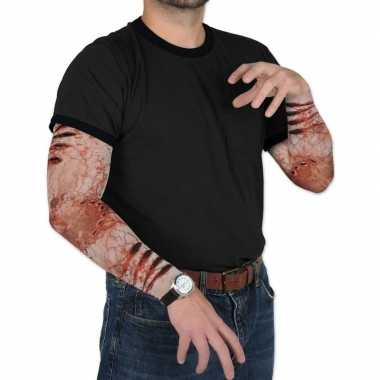 Halloween - zombie halloween verkleedaccessoire mouwen voor volwassen
