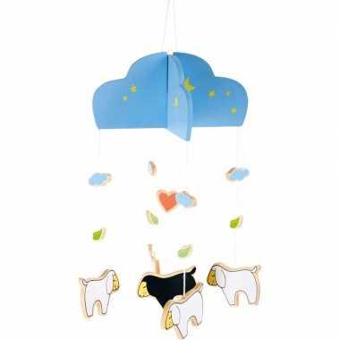 Feest hangdecoratie mobiel schaap lam 25 cm