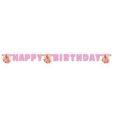 Feest happy birthday slinger van barbie 2 15 meter