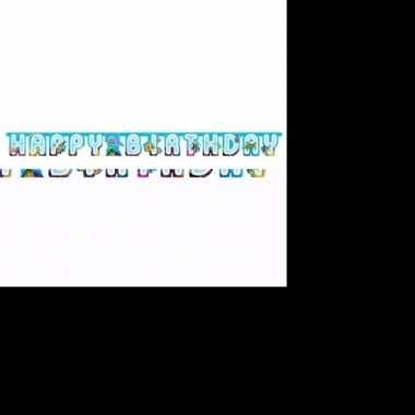 Feest happy birthday wenslijn met oceaan print