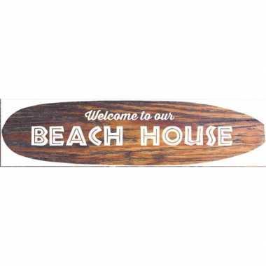 Feest hawaii thema metalen surfboard decoratie