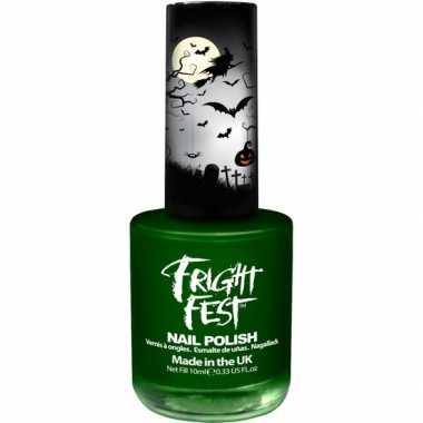 Heksen/zombies groene nagellak 10 ml verkleedaccessoire