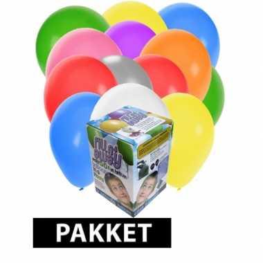 Helium tank met 200 gevarieerde ballonnen