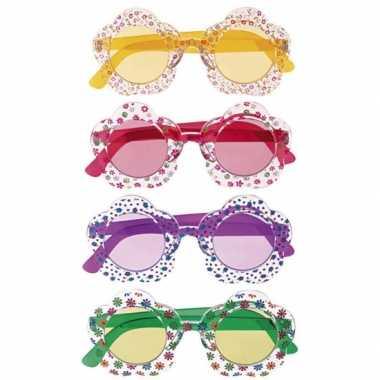 Feest hippie bril voor volwassenen