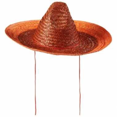 Feest holland sombrero oranje 48 cm