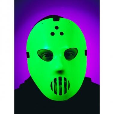 Feest horror glow in the dark hockey masker