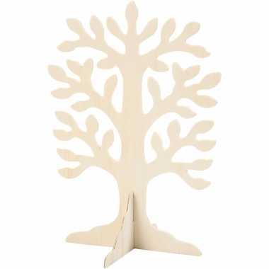 Feest houten boompje 30 cm