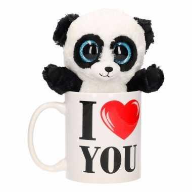 Feest i love you mok met panda